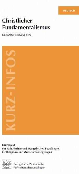 """EZW Kurz-Infos """"Christlicher Fundamentalismus"""" in 8 Sprachen"""